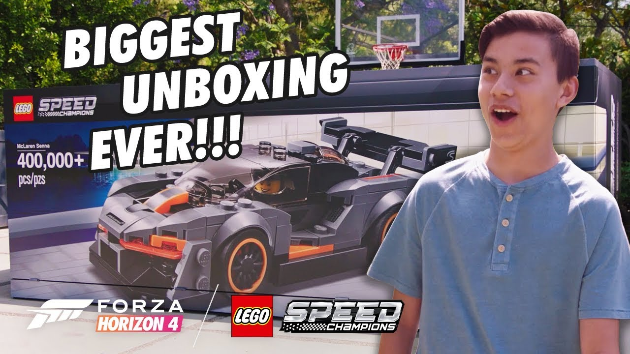 MY BIGGEST UNBOXING EVER!!! LEGO Speed Champions McLaren build and LEGO Forza Horizon 4
