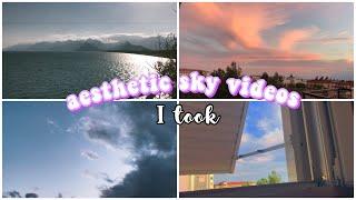 aesthetic sky videos I took  kendi çektiğim aeshetic gökyüzü videoları