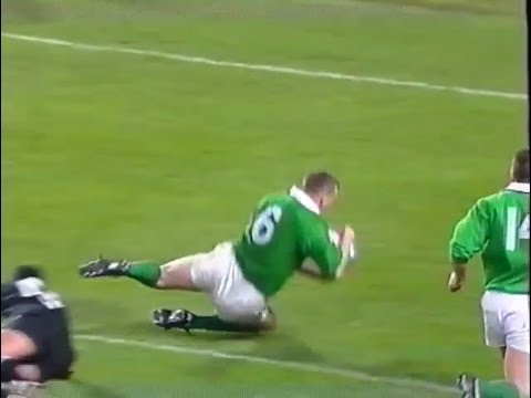 David Corkery try vs New Zealand Rugby 1995