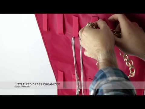 Little Red Dress Hanging Jewelry Organizer