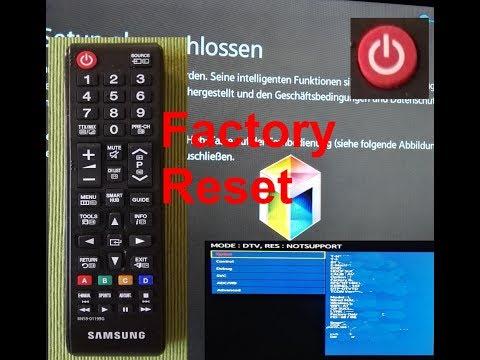 Samsung TV Werkseinstellung Factory Reset schnell