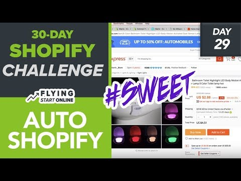 AUTOMATE YOUR SHOPIFY STORE - ADDING PRODUCTS & FULFILMENT (Day 29/30) #Bizathon3