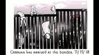 Migrant Caravan POLITICAL CARTOONS FOR DONALD TRUMP 🍼