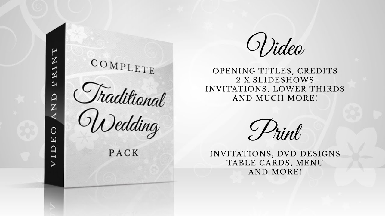 Complete Traditional Wedding Pack -- After Effects Template - YouTube