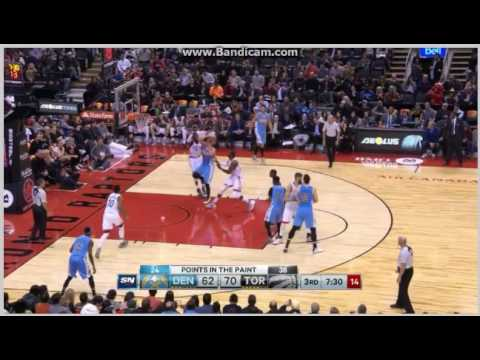 Nikola Jokic perfect move and score - Toronto Raptors vs. Denver Nuggets - NBA - 31/10/2016