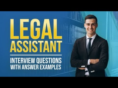 Legal Assistant Interview Questions And Answers From MockQuestions.com