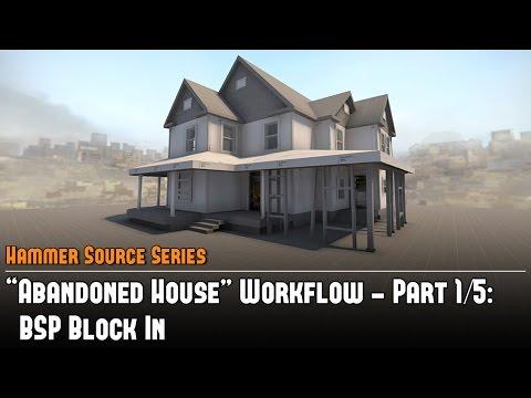 """Hammer Source CS:GO SDK """"Abandoned House"""" Workflow (1/5) - BSP Block-In Tutorial"""