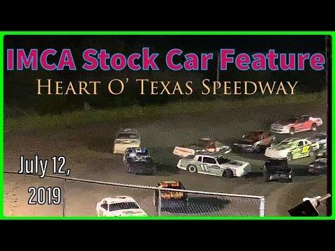 IMCA Stock Car Feature - Heart O' Texas Speedway - July 12, 2019