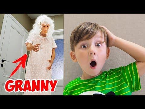 Бабуля вылезла из ИГРЫ в Реальной ЖИЗНИ! Короче Говоря Страшно Granny in Real Life