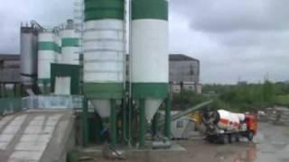 Batching Plant. Производство бетона на дозирующем комплексе.(Concrete production. Batching plant in motion. Производство бетона. Дозирующий комплекс выполняет автоматическое взвешивание..., 2009-06-17T18:38:55.000Z)