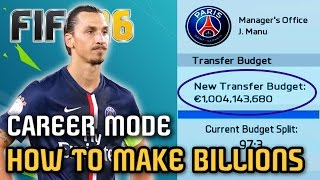 HOW to MAKE BILLIONS in Career Mode - FIFA 16 (Career Mode Challenge)