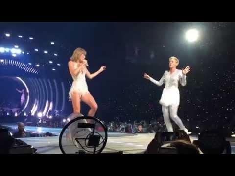 Taylor Swift and Ellen Degeneres - Style Los Angeles Staples Center 1989 Tour 8/24/2015