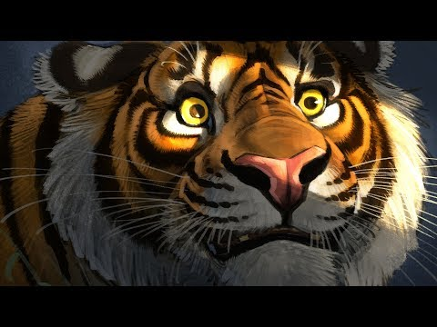 Digital Painting - Photoshop - Tiger's Eyes