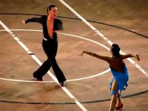 Carlos Custódio and Elena Plescenco Rumba
