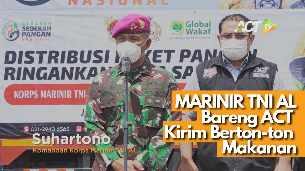 MARINIR TNI AL dan ACT Gerak Cepat Kirim Bantuan untuk Korban Banjir