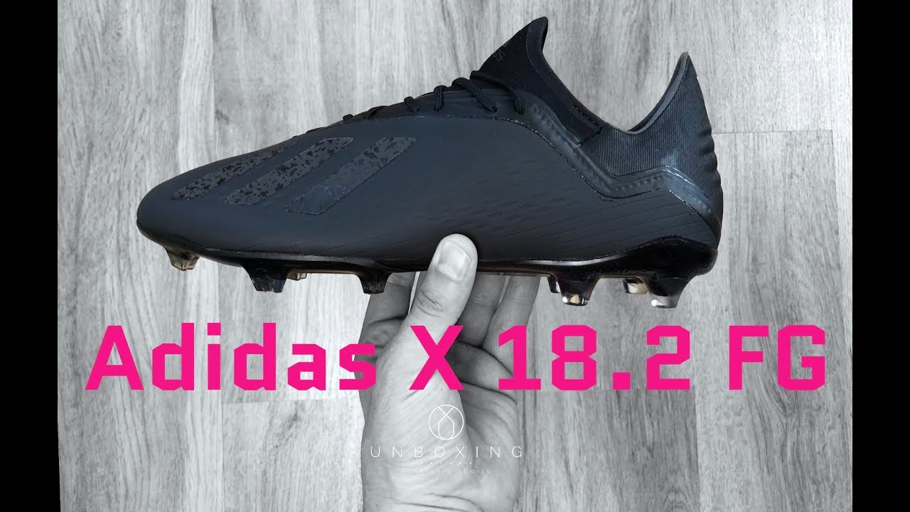 wholesale dealer e3ddc b7564 Adidas X 18.2 FG 'Shadow Mode Pack' | UNBOXING | football boots | 2018 | 4K