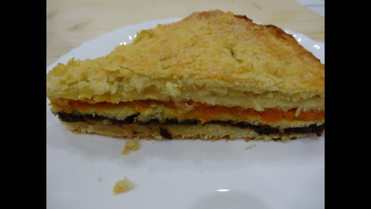 трехслойный пирог курага чернослив лимон рецепт как в бахетле