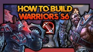 SMITE WARRIOR Solo BUILDS! (Season 6 CHANGES...)