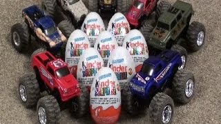 8 KINDER EGG MONSTER TRUCK SURPRISE