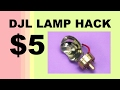 How to Hack a 170 HOUR DJL Projector Lamp for 5