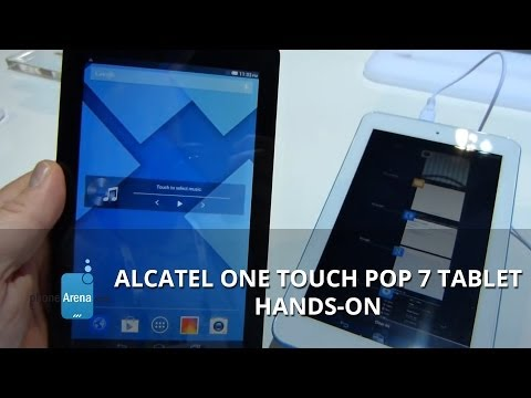 Alcatel One Touch Pop 7 tablet hands-on