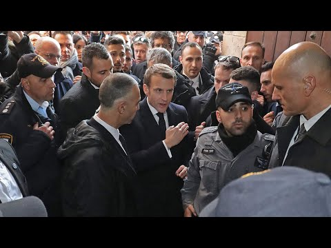 video: Emmanuel Macron accused of 'aping' Jacques Chirac with angry outburst against Israeli security in Jerusalem