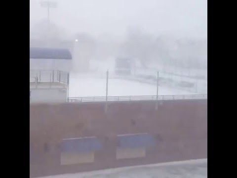 University of Bridgeport during Blizzard