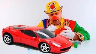 Macchinine giocattoli per bambini, Rossa Ferrari - fai da te - video divertenti per bambini piccoli