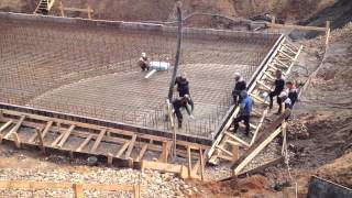 Бетонирование фундаментной плиты с Пенетрон Адмикс(, 2013-09-10T14:27:18.000Z)