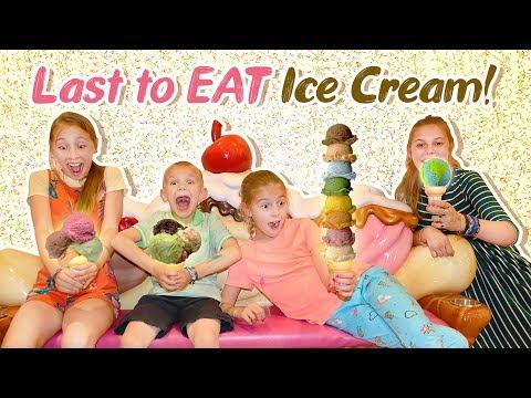 Last To Eat ICE CREAM Wins 10 Build A BEARS!