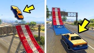 🔴 מה יקרה אם נשים רמפה לנהג מונית ב GTA V?! (שמים רמפה לנהגים ב GTA V!)