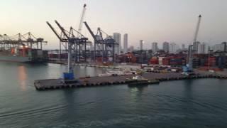 Mein Schiff 4 Auslaufen Große Freiheit Cartagena Kolumbien Mittelamerika