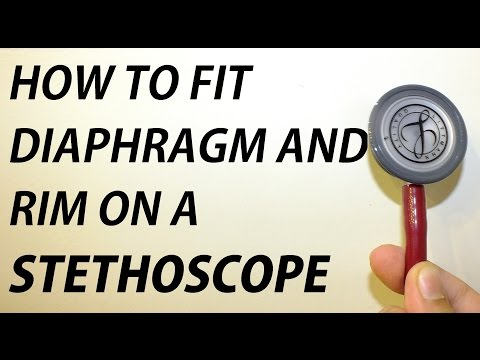 How To Fit A Diaphragm Or Rim On A Littman Stethoscope