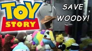 Journey to the Claw Machine - Save Toy Story Woody!
