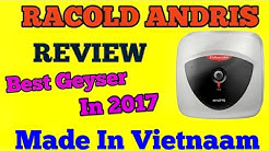 Racold Andris Water Heater Geyser Unboxing & Product Review