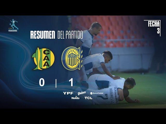 Copa Diego Maradona | Fases | Fecha 3 | resumen de Aldosivi - Rosario Central