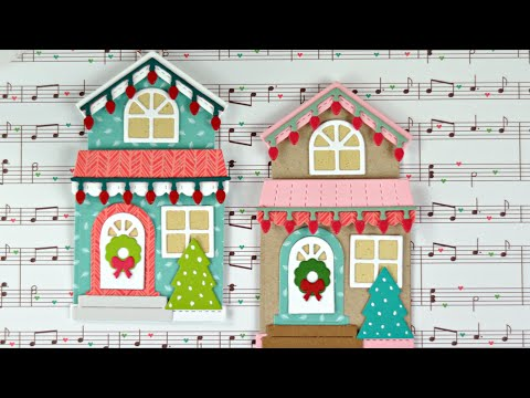 Christmas House Shaped Card And Tag Youtube