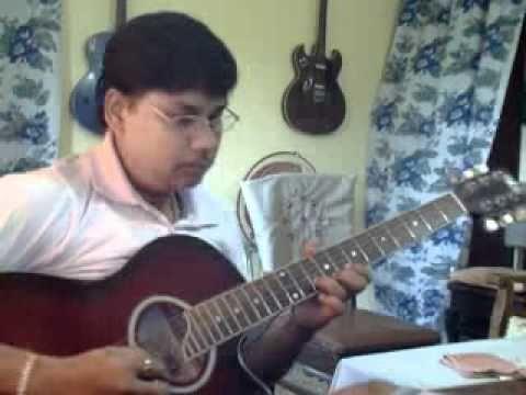 O mere dil ki chain on Guitar