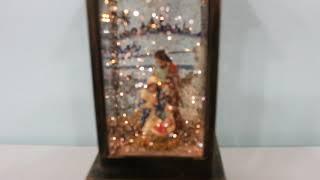 2020 LED 크리스마스 예수 사각랜턴 워터볼 오르골