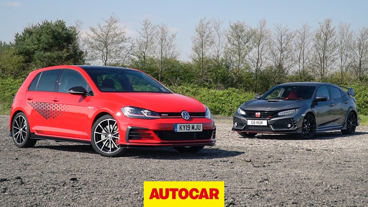 Track Battle 2019 Vw Golf Gti Tcr Vs Honda Civic Type R Autocar