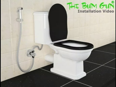 the bum gun bidet sprayer installation video english youtube. Black Bedroom Furniture Sets. Home Design Ideas
