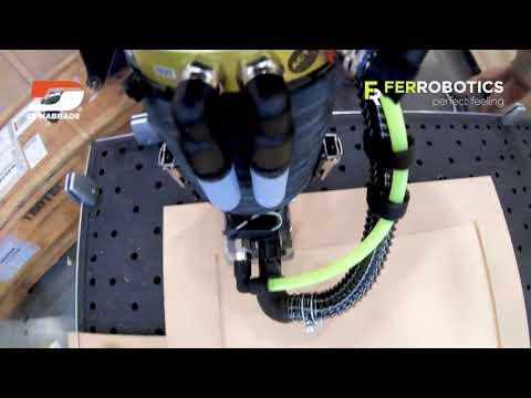 Robotic sanding tool ACF-K - wooden surface treatment - Dynabrade jitterbug + FerRobotics