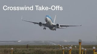 "Don""t Watch this if you have fear of flying Manchester airport impressive Crosswind take offs"