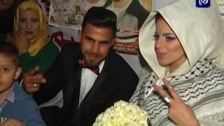 زفاف في خيمة اعتصام دعما للاسرى المضربين عن الطعام