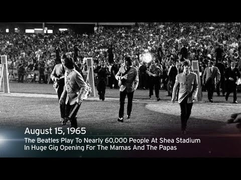 This Week In History: The Beatles Play Shea Stadium In Huge Gig Opening For The Mamas And The Papas