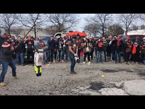 C-Rob Blog (58472) - Cleveland Browns Fans Smash Pinata of Steelers QB Mason Rudolph;