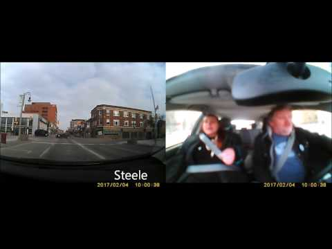 Oshawa Accident caught on Dash Cam with passengers reaction