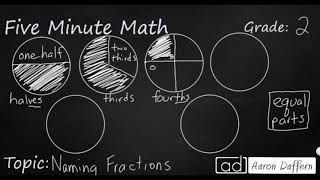 2nd Grade Math Naming Fractions