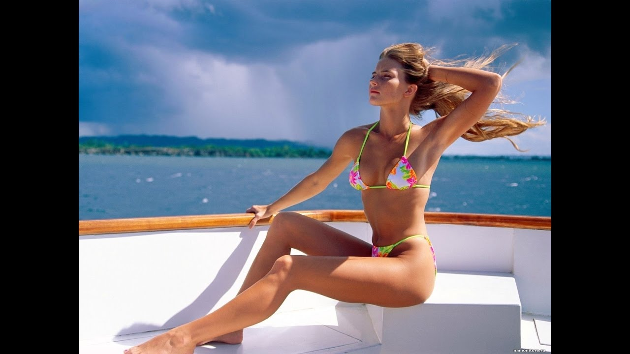 Beautiful Girl In A Bikini On Yacht World Of Love YouTube
