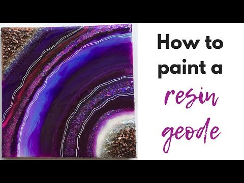 How to paint a resin geode